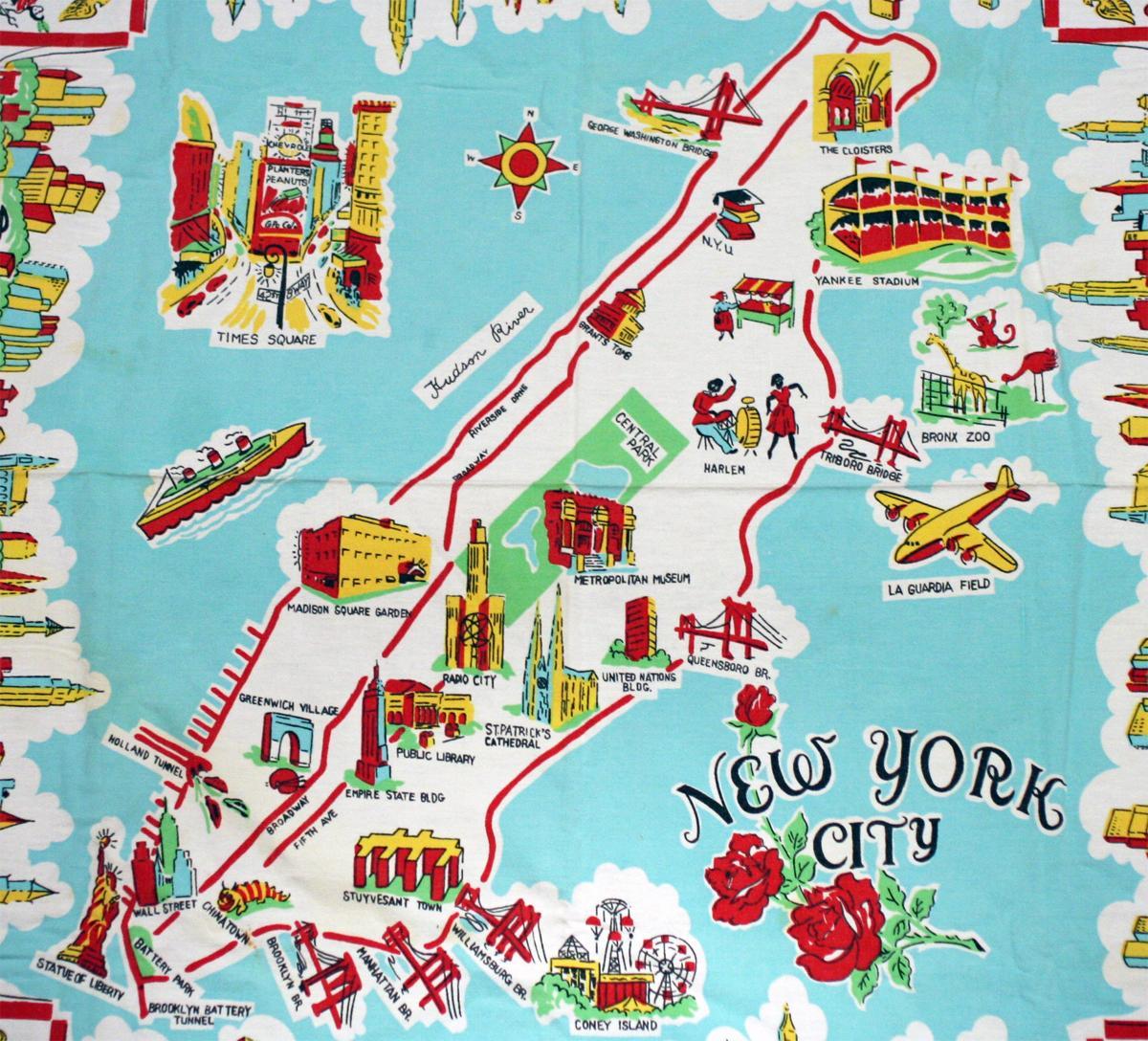 Nyc Attraktion Kort Kort Over New York Der Viser Turist