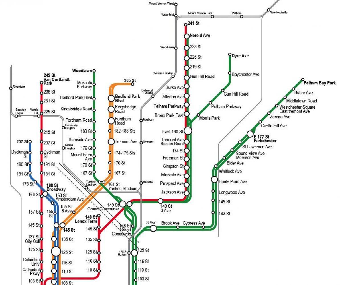 Nyc Subway 4 5 6 Kort 4 5 6 Subway Kort New York Usa